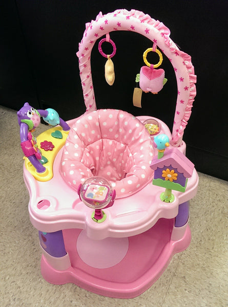 Babies R Us pink/purple owl exersaucer