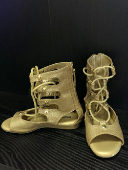 Michael Kors gold gladiator style sandals - 12