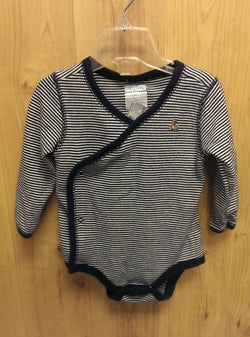 Baby Gap navy striped onesie - 6/12mos