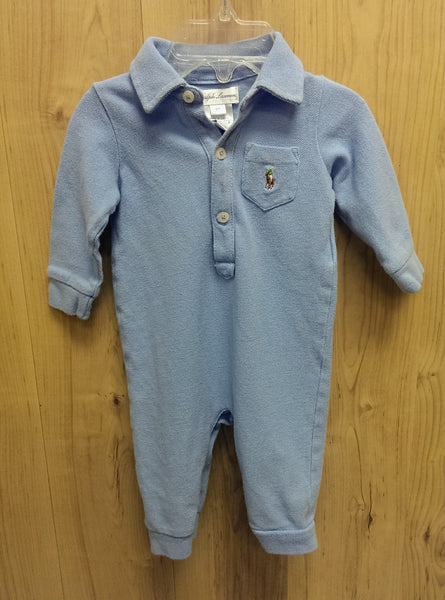 Ralph Lauren blue one pc - 6mos