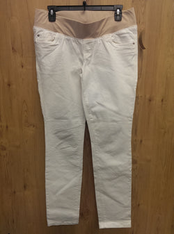 Old Navy white denim skinny maternity jeans - 8