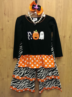 Ann Loren 4pc Halloween 'Boo' outfit w/ accessories - 2/3T