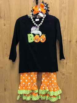 New 4pc Halloween 'Boo' outfit w/ accessories - multiple sizes