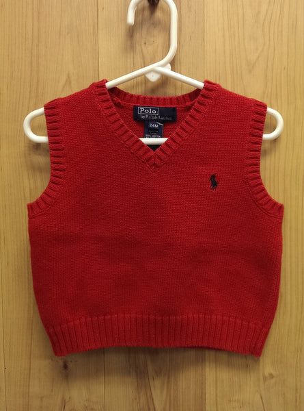 Ralph Lauren Polo red sweater vest - 24mos