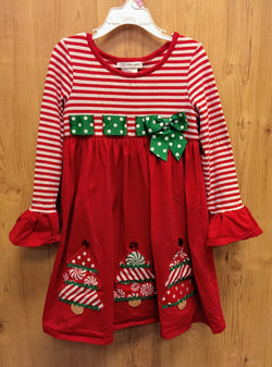 Bonnie Jean striped Christmas tree dress - 6