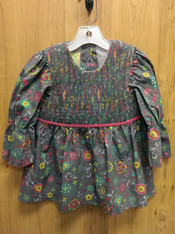 Le' Za Me gray smocked top - 4