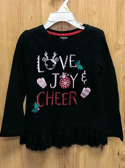 Gymboree 'Love Joy Cheer' long sleeve top - 4T