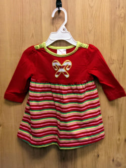 Nursery Rhyme striped candy cane dress - 12mos