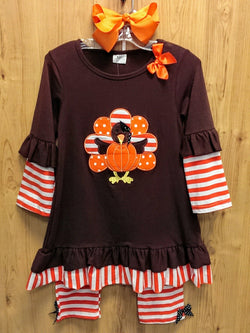 NEW 3pc Thanksgiving turkey outfit - various sizes