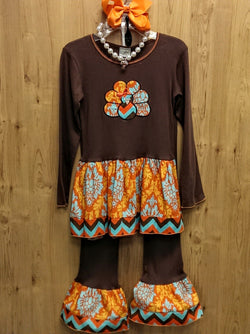 NWT Ann Loren 4pc Thanksgiving Turkey outfit -  9/10