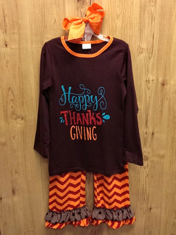 NEW 3pc Happy Thanksgiving outfit - various sizes