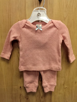 Boden pink 2pc pajamas - 0/3mos