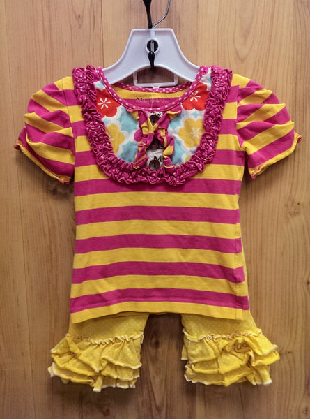 Mustard Pie pink/yellow 2pc outfit - 18mos