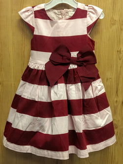 Pumpkin Patch pink/bergundy striped dress - 3T