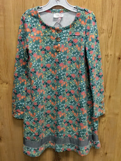 435 by Matilda Jane turquoise floral dress - 8