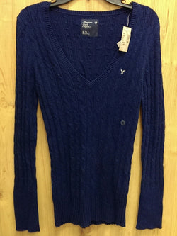 American Eagle NWT navy v neck sweater - XL