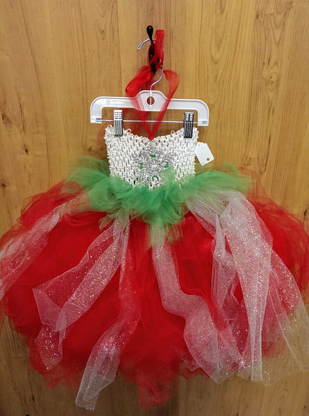 Handmade NWT Snowflake tulle dress - toddler/child (one size)