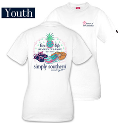 Simply Southern tee - Live Life - Youth Med