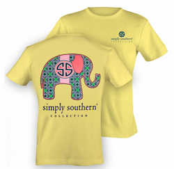 Simply Southern tee - Preppy Elephant - Adult XL