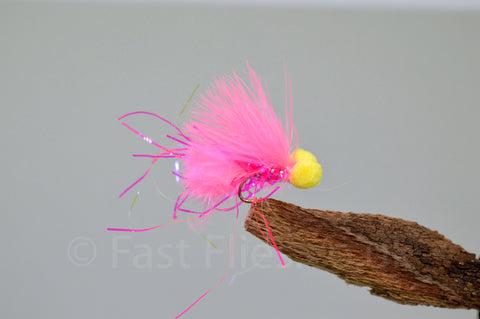 Pink - Micro x 3 - Fast Flies top trout flies
