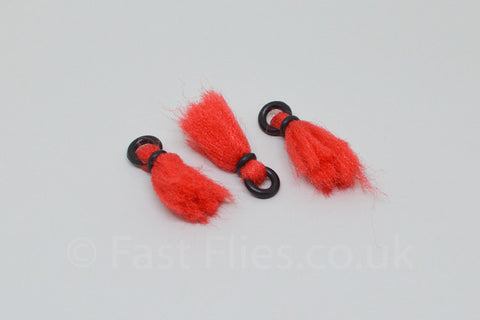 3 x Yarn strike indicators / Red - Fast Flies top trout flies