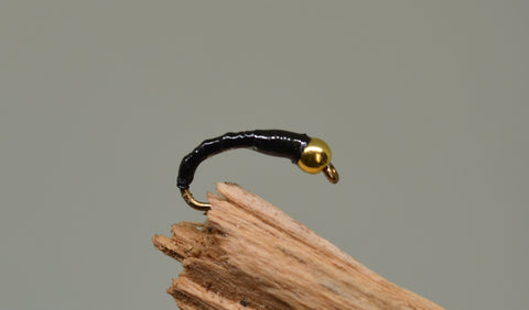 Gold Head Black Flexi Floss x 3 - Fast Flies top trout flies