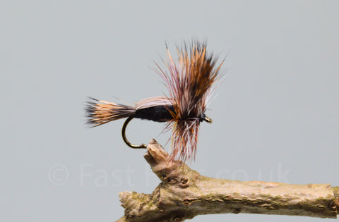 Black Humpy x 3 - Fast Flies top trout flies