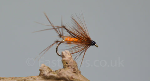 Orange Bristol Hoppers x 3 - Fast Flies top trout flies