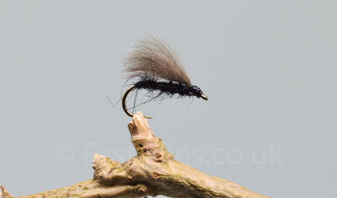 CDC Black F Flies x 3 - Fast Flies top trout flies