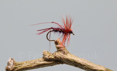 Claret Hoppers x 3 - Fast Flies top trout flies