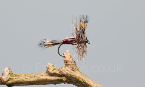 Claret Humpy x 3 - Fast Flies top trout flies