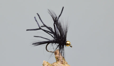 G.H. Black Flexi Floss Daddy Longlegs (Barbless) - Fast Flies top trout flies