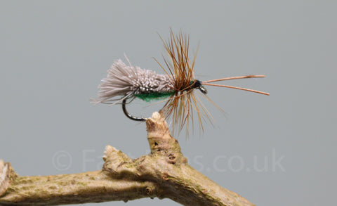 Green G & H Sedges x 3 - Fast Flies top trout flies