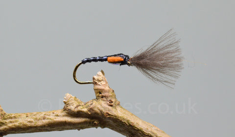 CDC Black Skinny Shuttle Cock Buzzers x 3 - Fast Flies top trout flies