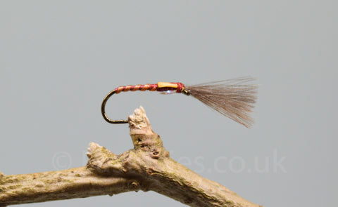 CDC Claret Skinny Shuttle Cock Buzzers x 3 - Fast Flies top trout flies