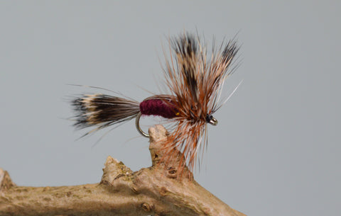 Claret Humpy (Barbless) - Fast Flies top trout flies