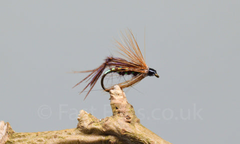 Claret Bristol Hoppers x 3 - Fast Flies top trout flies