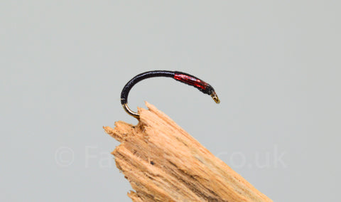 Black-Red Holo Cheek x 3 - Fast Flies top trout flies