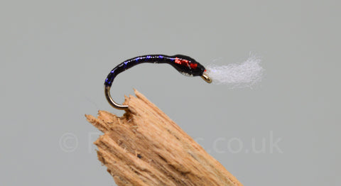 Red Holo Cheek UV Rib with Breather x 3 - Fast Flies top trout flies
