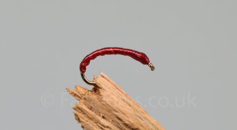 Red Flexi Floss x 3 - Fast Flies top trout flies