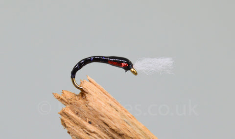 Black & Red Holo Cheek with Breather x 3 - Fast Flies top trout flies