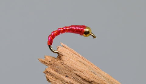 Gold Head Red Flexi Floss (Barbless) - Fast Flies top trout flies