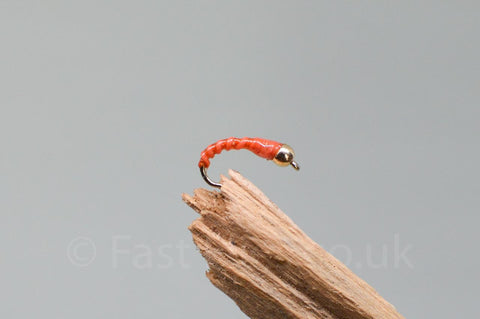 Gold Head Orange Flexi Floss Buzzer x 3 - Fast Flies top trout flies