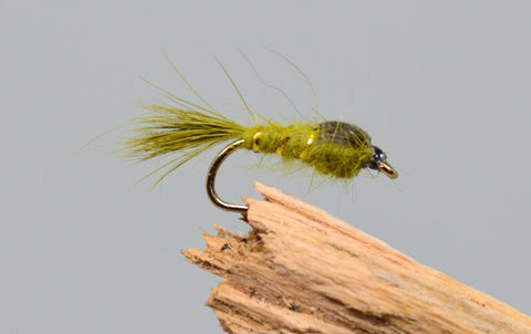 G.R.H.E. Olive x 3 - Fast Flies top trout flies