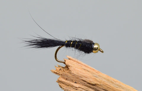 Gold Head G.R.H.E. Black x 3 - Fast Flies top trout flies