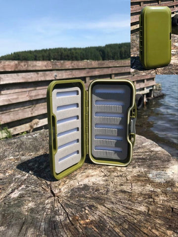 Olive waterproof fly box