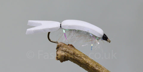 Floating Fry White x 3 - Fast Flies top trout flies