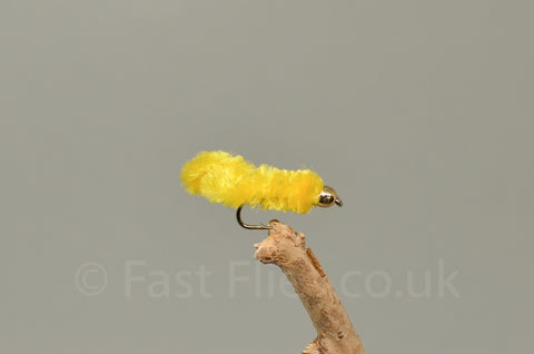 Gold Head Mop Head Yellow - Fast Flies top trout flies