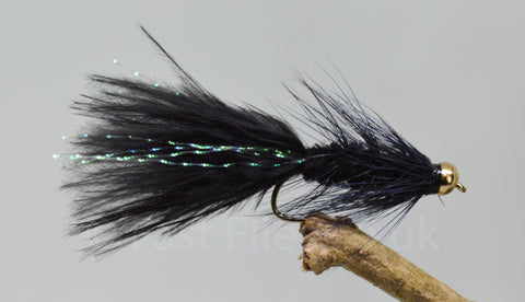 Gold Head Black Woolly Bugger x 3 - Fast Flies top trout flies
