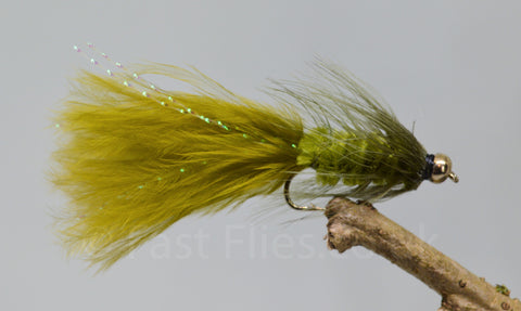 Gold Head Olive Woolly Bugger x 3